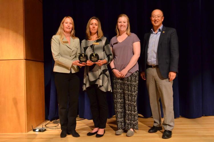 CU Rec Center Staff receive campus sustainability award