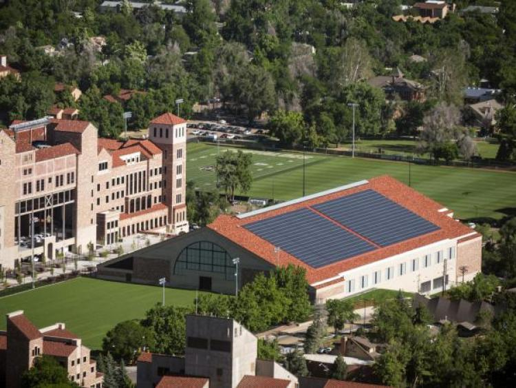 solar panels on athletics buildings