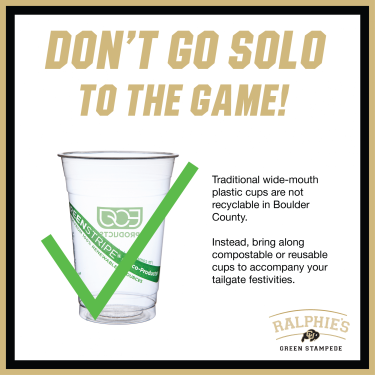 don't go solo, use compostable plastic cups