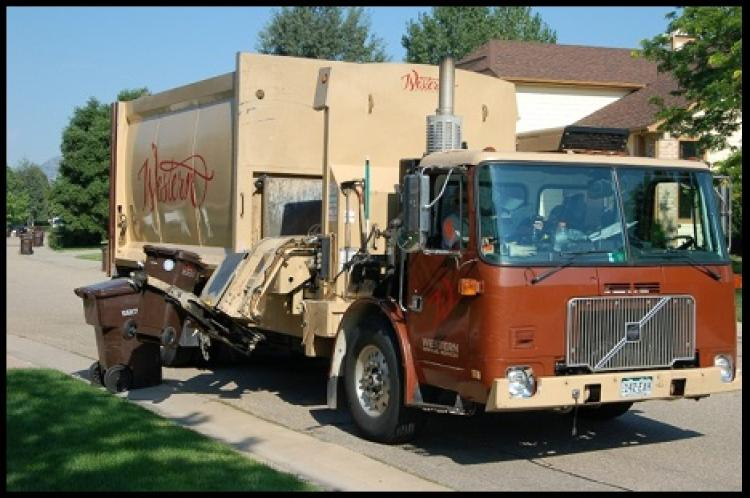 Western disposal collecting curbside composting