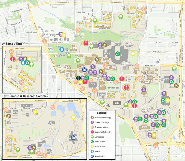 Campus Sustainability Map Environmental Center