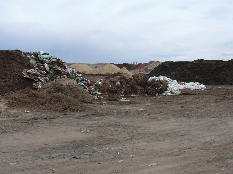 compost piles at A-1 organics