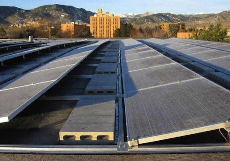 Solar Panels on Coors Event Center roof