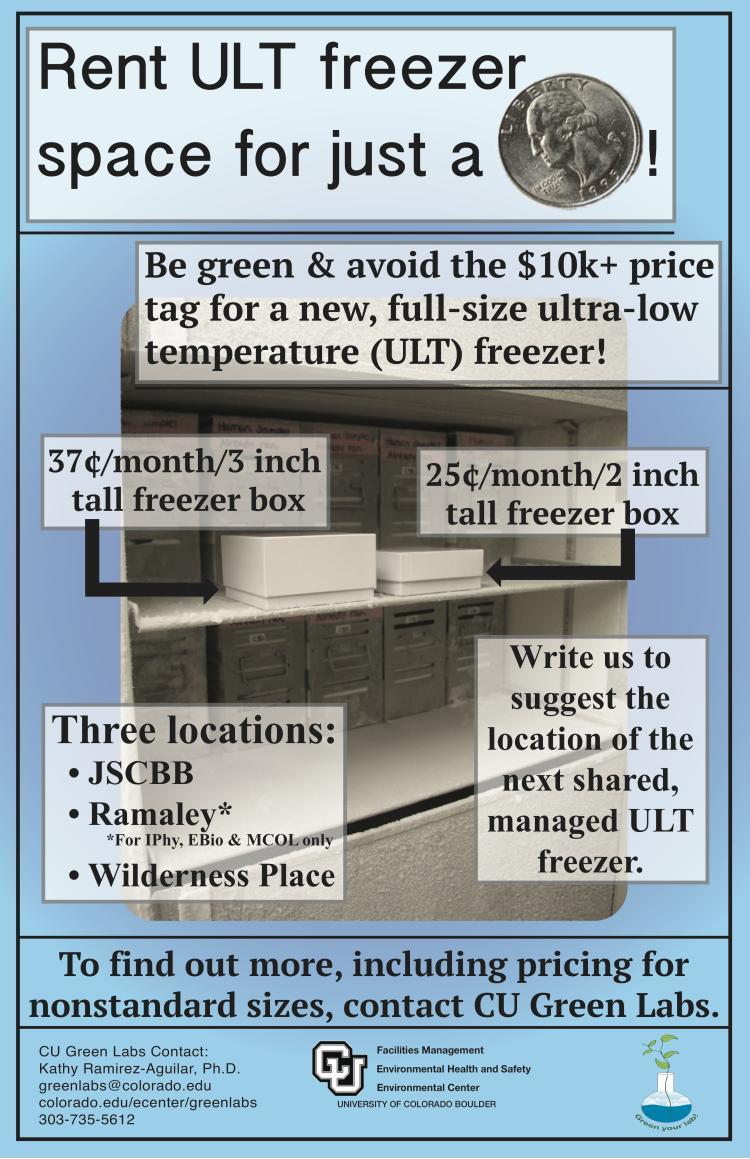 shared ULT freezer advertisment