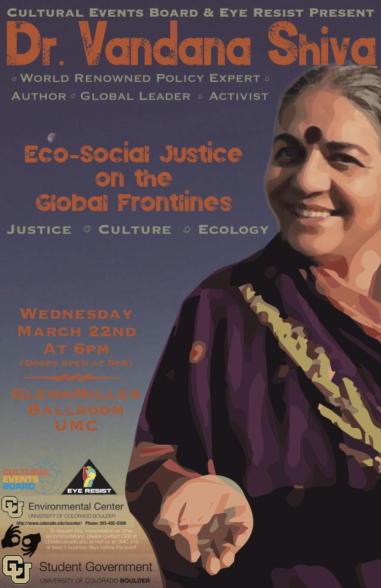 Vandana Shiva, March 22nd