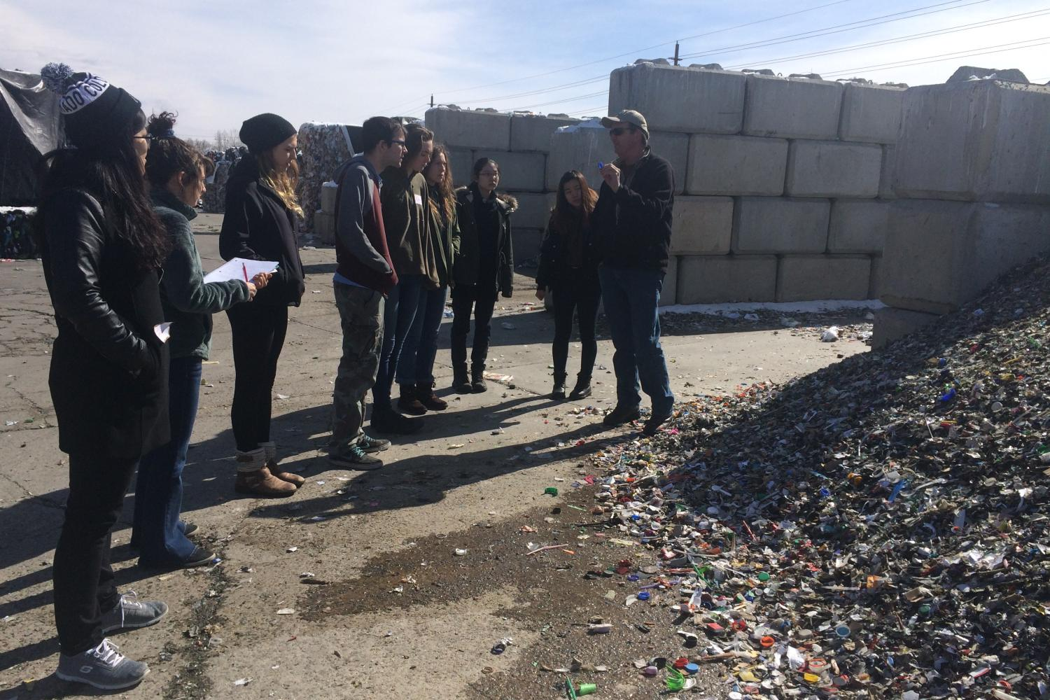 Students at Recycling Center