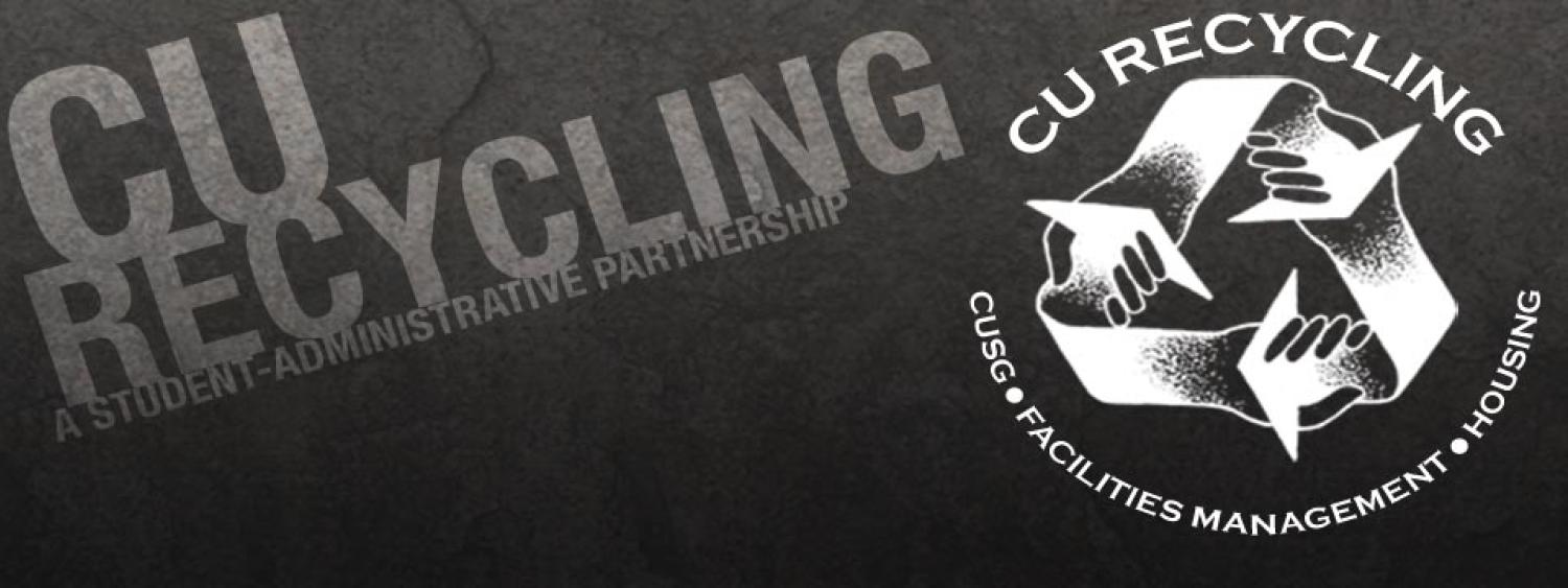 CU Recycling - A Student, Administrative partnership