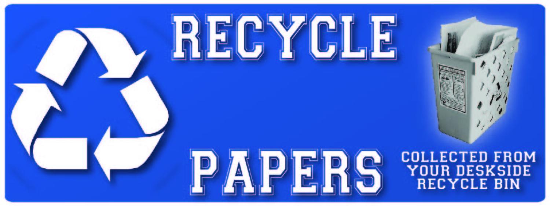 deskside recycling poster