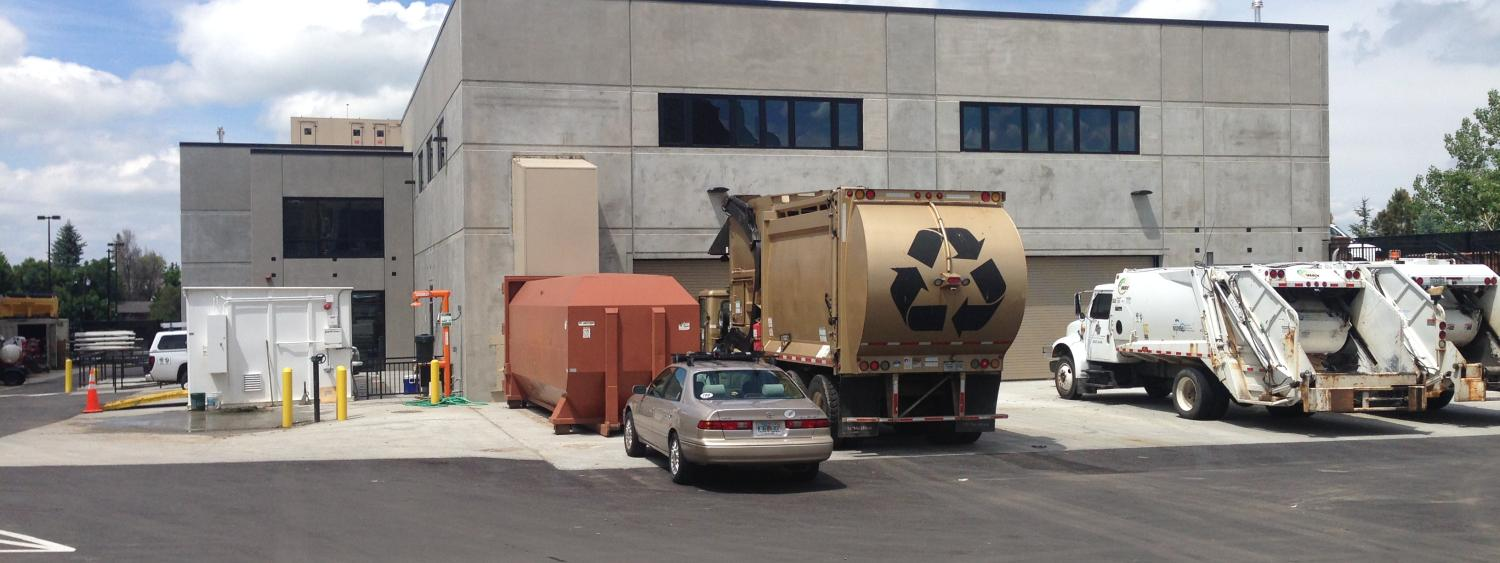 Exterior of the new Recycling center