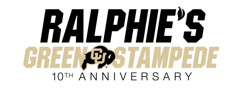 Ralphie's Green Stampede 10th Anniversary Logo