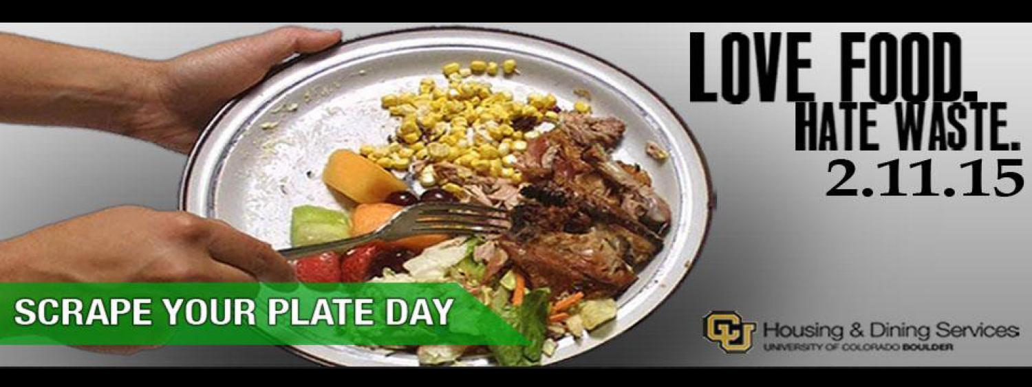 Scrape your plate day