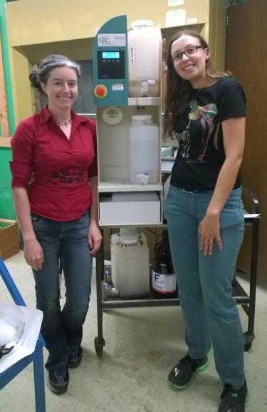 photo of solvent distillation unit