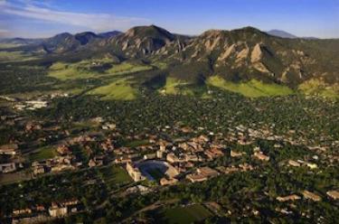 University of Colorado Boulder aerial photo
