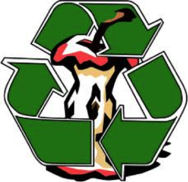 recycle symbol with apple