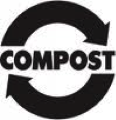compost sign with arrows