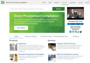 GPC website screenshot