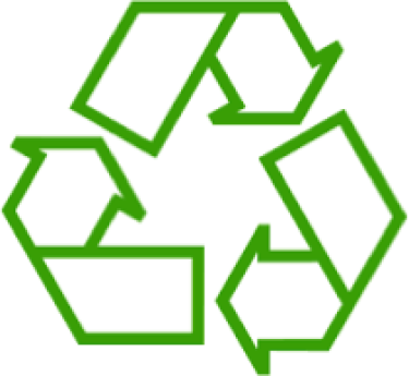 green and white 3 arrow recycling symbol