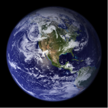 real photo of Earth