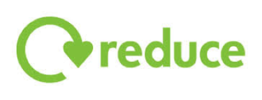 """green """"reduce"""" sign with arrow"""