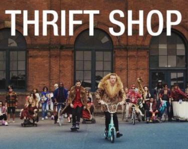 The album cover for Macklemore's Thrift Shop