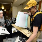 students help with moveout