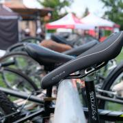 bike seat on rack