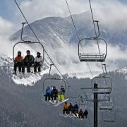 people on a chairlift