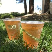 compostable cup full of liquid