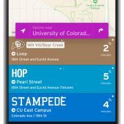 transit app screen shot