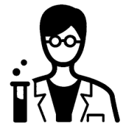 scientist cartoon with test tube