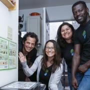 FLOWS technicians visit a home