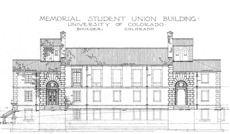 Building Front Plan from Original Blueprint