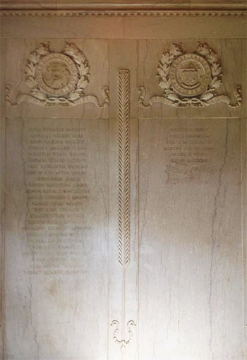 Marble Memorial Wall Inside Front Doors