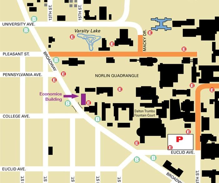 Economics Building Location Map