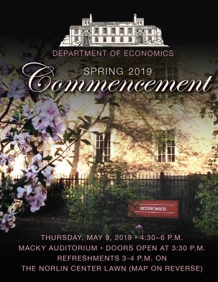 Economics Commencement Ceremony Invitation