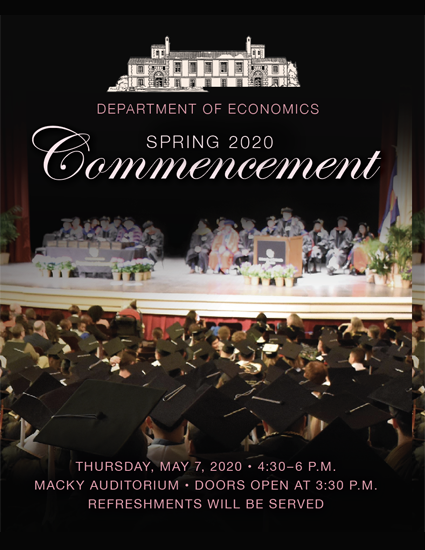 Economics Commencement Ceremony Invitation