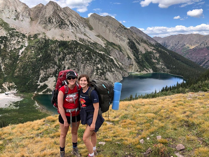 Ally Collard hiking