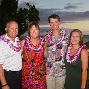 Ben Erwin with his family