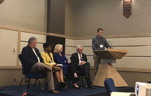 Ben Erwin at a Ed Chairs Panel