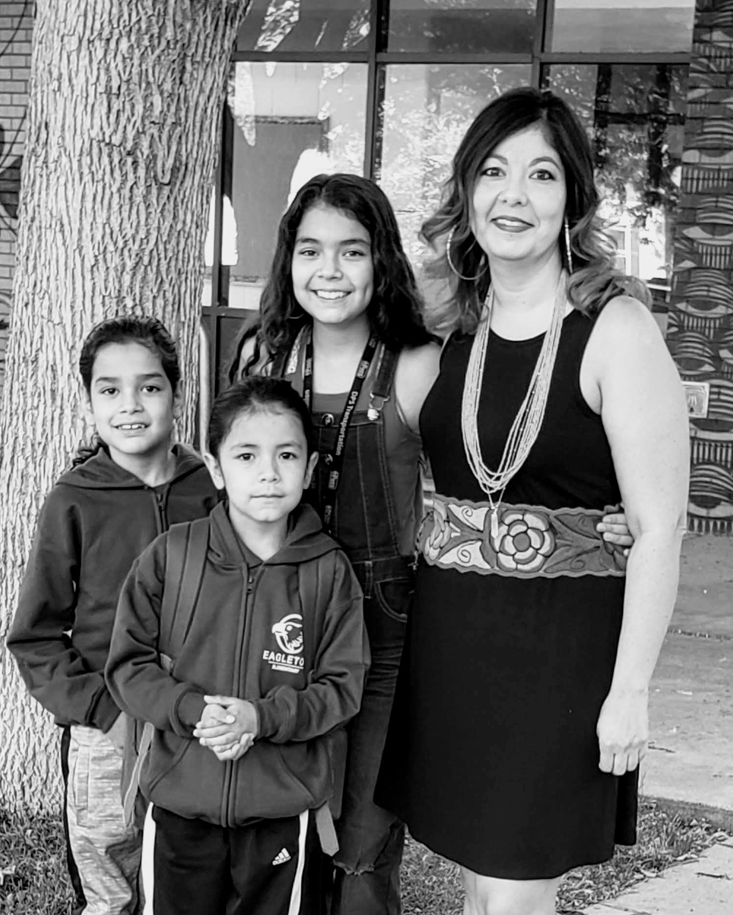 Michelle Lopez and family