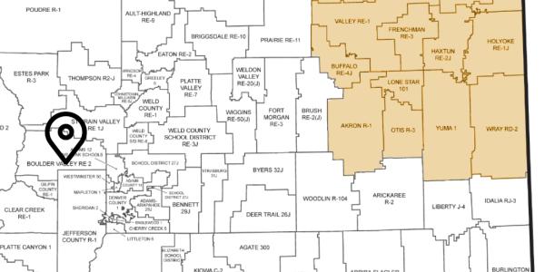 NE Colorado map