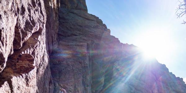 Garrett Cease rock climbing