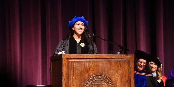 Ofelia Schepers at graduation