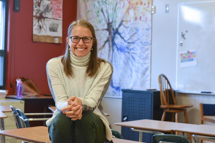 Kayliegh Esswein in the classroom