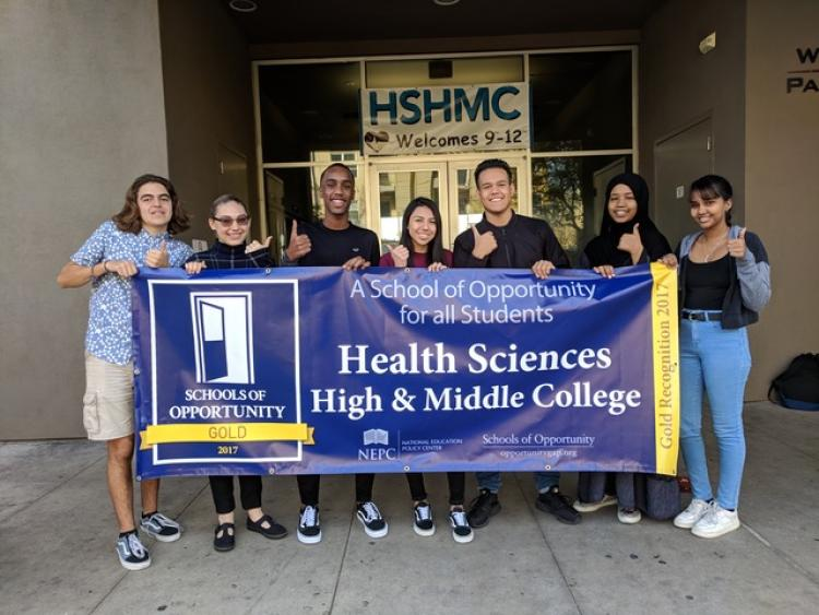 Health Sciences High & Middle College charter school in San Diego, Calif.