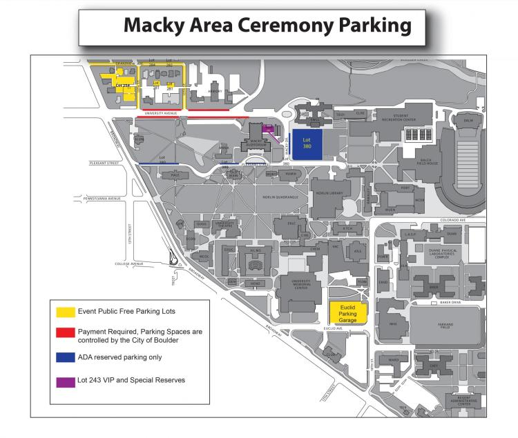 Mack Commencement map
