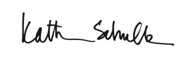 Kathy's signature