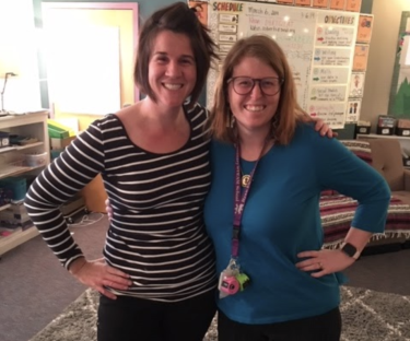 Kyle with her mentor teacher