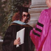 Arguello at her graduation from Harvard Law School.