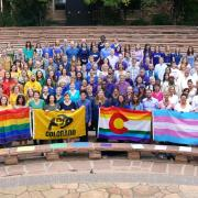 LBGTQ CU Boulder flag